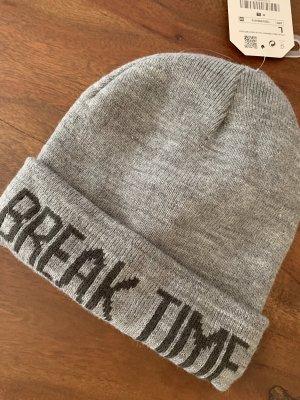 Zara Fabric Hat grey-black
