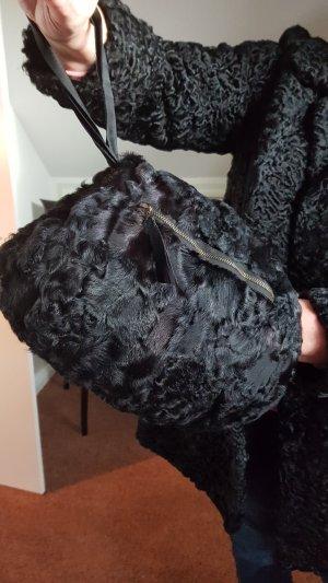 Muff Persianer schwarz Vintage