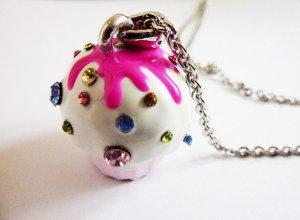 Necklace pink-steel blue
