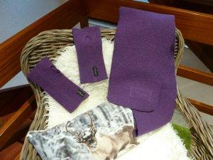 Mufflon Schal und Stulpen aus reiner Merinowolle