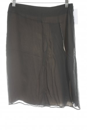 Mugler Minirock schwarz-beige Casual-Look