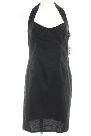 Mugler Vestido de cuello Halter negro estilo clásico
