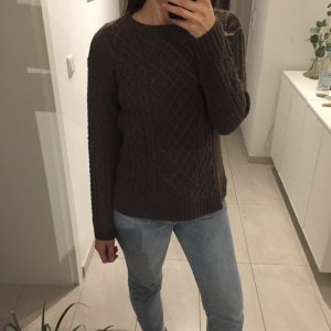 Muji Knitted Sweater brown wool