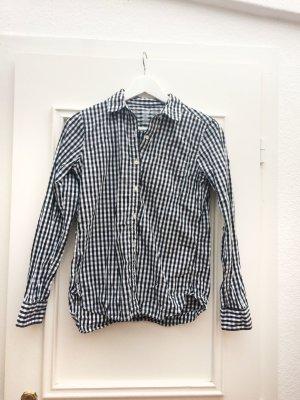 MUJI Hemdbluse mit schwarz-weißem Vichy-Karo