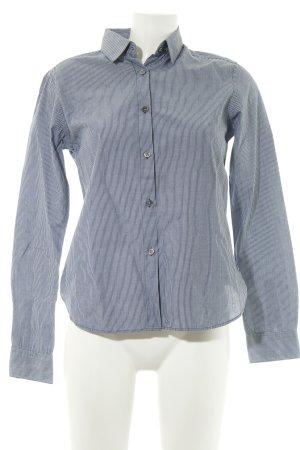 Muji Long Sleeve Shirt blue-white striped pattern business style