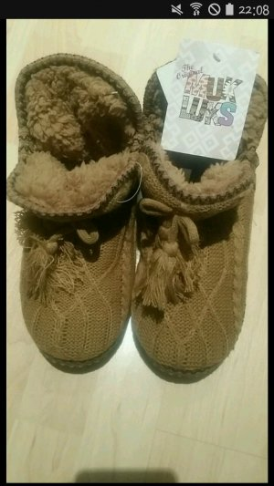 Zapatillas para casa negro-marrón