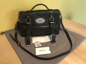 Mulberry Shoulder Bag black-gold-colored leather