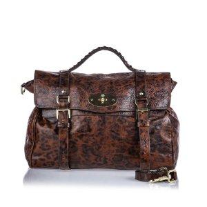 Mulberry Animal Print Leather Alexa Satchel
