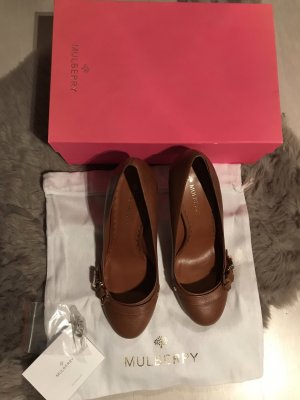 Mulberry Pumps cognac-coloured-gold-colored leather