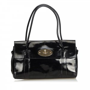 Mulberry Shoulder Bag black imitation leather