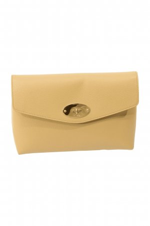 Mulberry Clutch in Beige aus Leder
