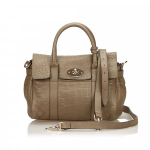 Mulberry Embossed Leather Alexa Satchel