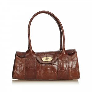 Mulberry Shoulder Bag dark brown leather