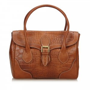 Mulberry Embossed Leather Handbag