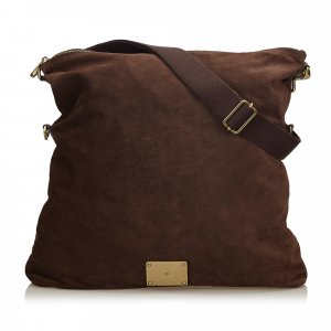 Mulberry Folded Suede Crossbody Bag