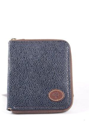 Mulberry Geldbörse dunkelblau-braun Vintage-Look
