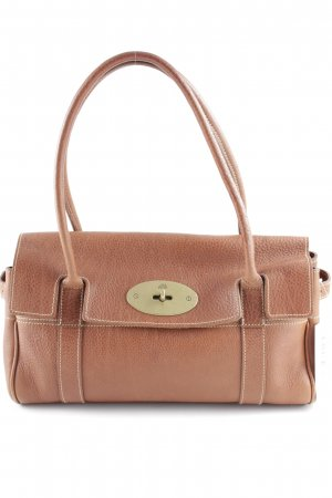 Mulberry Bolso barrel coñac-color oro elegante