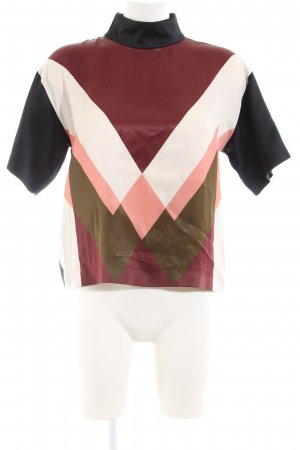 Mulberry Short Sleeved Blouse graphic pattern casual look