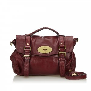 Mulberry Sacoche bordeau cuir