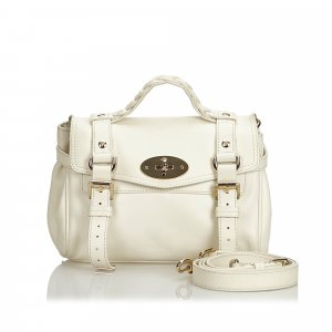 Mulberry Satchel white leather