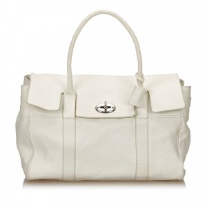 Mulberry Weekendtas wit Leer