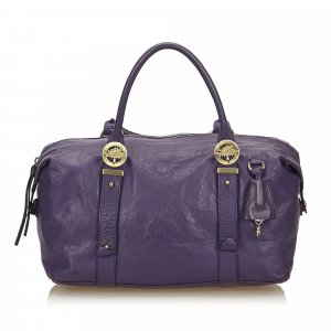 Mulberry Weekender Bag purple leather
