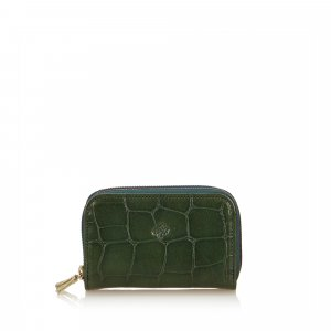Mulberry Key Case green leather