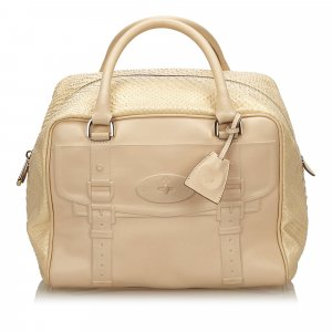 Mulberry Handbag beige leather