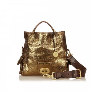 Mulberry Leather Metallic Handbag