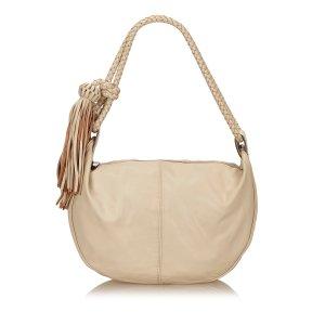 Mulberry Leather Tassel Shoulder Bag