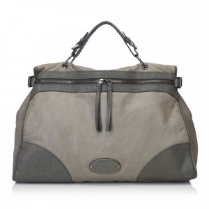 Mulberry Satchel green leather