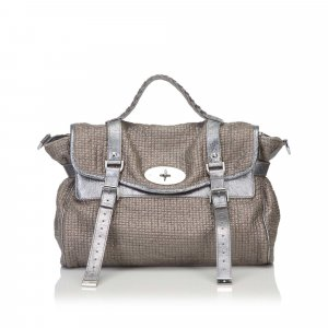 Mulberry Satchel brown cotton