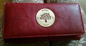 Mulberry Portemonnaie in rot/braun