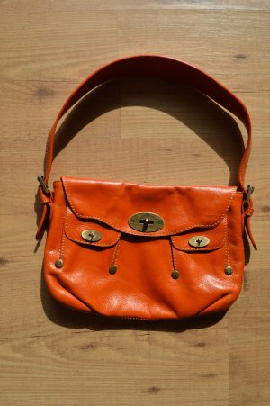 MULBERRY Schultertasche Orange Tasche Bag Sac Handtasche Leather Cuir