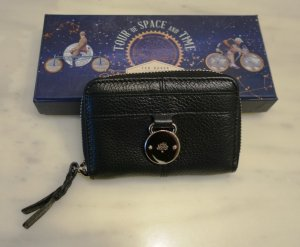 Mulberry Wallet black-silver-colored leather
