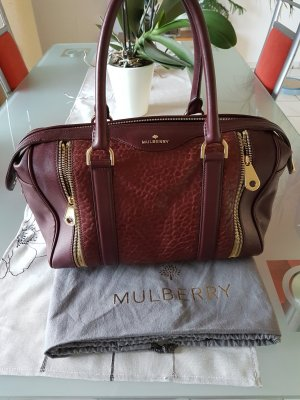 Mulberry Tasche Designer Luxus Leder Bag Bordeaux Rot, NP 1.300 €