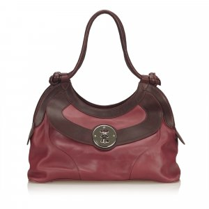 Mulberry Shoulder Bag pink leather