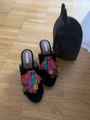 H&M Premium Heel Pantolettes black
