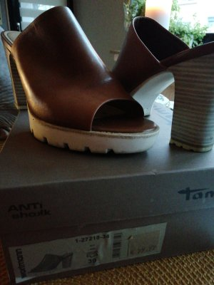 Tamaris Mules multicolored leather