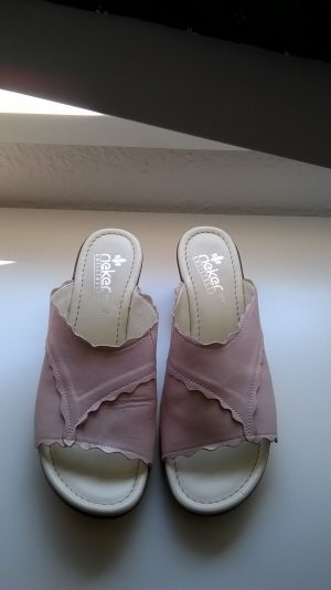 Rieker Heel Pantolettes multicolored leather