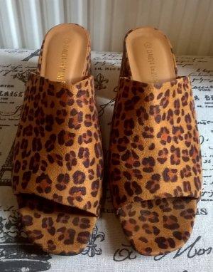 Claudia Ghazzani Heel Pantolettes multicolored imitation leather