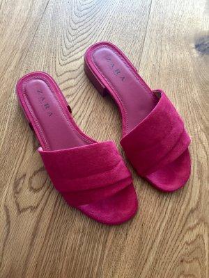 Mules Sandalen pink Zara 38
