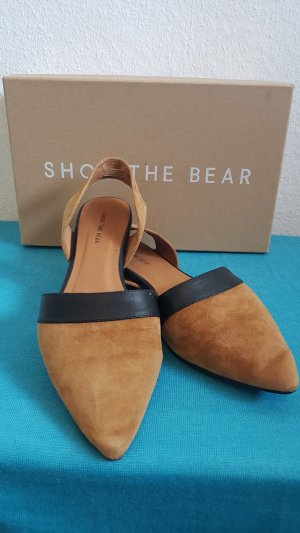 Shoe the Bear Pantofola nero-cognac