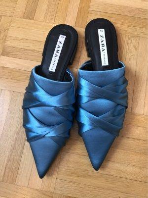 Zara Trafaluc Sabots cadet blue-cornflower blue