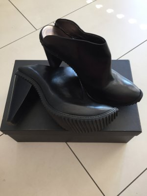 Walter Steiger Heel Pantolettes black leather