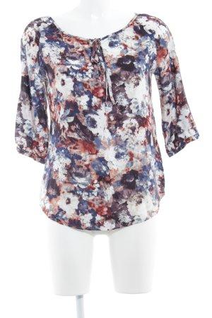 Multiblu Blusa alla Carmen motivo floreale stile casual
