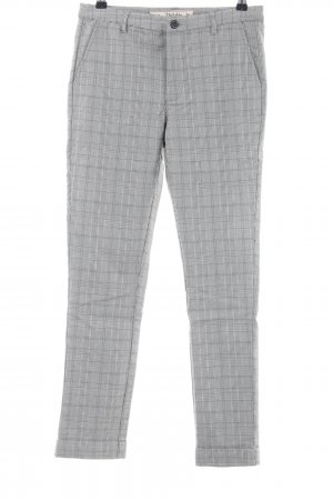 Multiblu High Waist Trousers light grey check pattern business style