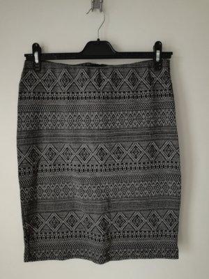 Multiblu Falda de talle alto negro-gris