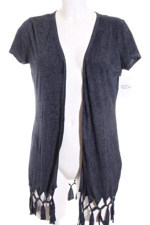 Multiblu Shirtjacke dunkelblau meliert Casual-Look