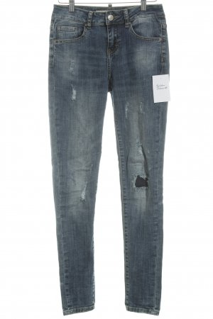 Multiblu Skinny Jeans blau Used-Optik
